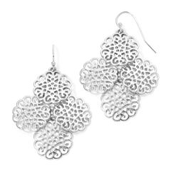 Liz Claiborne® Silver-Tone Chandelier Earrings