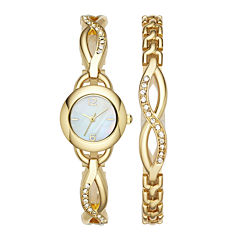 Womens Crystal Glitz Watch and Bracelet Set