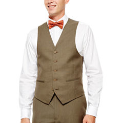 IZOD® Light Brown Sharkskin Suit Vest - Classic Fit