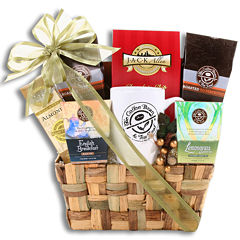 Alder Creek Coffee Bean & Tea Leaf Weave Gift Basket