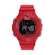Puma Unisex Red Strap Watch-Pu911381004