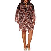 Bailey Girl 3/4 Sleeve Sheath Dress-Juniors Plus