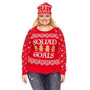 Sweatshirt + Beanie Combo- Juniors Plus