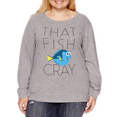 Finding Dory Brushed Fleece Sweatshirt- Juniors Plus