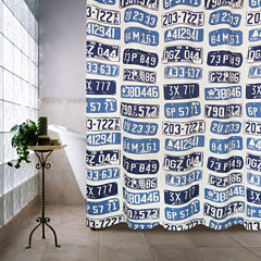 Park B Smith License Plates Shower Curtain