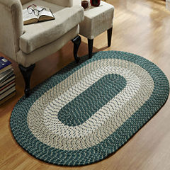 Better Trends Country Stripe Braided Oval Reversible Rugs