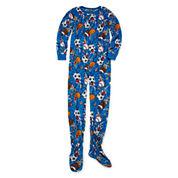 Boys Long Sleeve One Piece Pajama-Big Kid