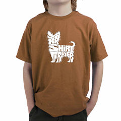Los Angeles Pop Art Yorkshire Terrier Graphic T-Shirt-Big Kid Boys