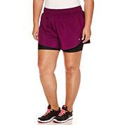 Xersion Solid Running Shorts Plus