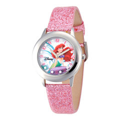 Disney Ariel Glitz Pink Strap Watch