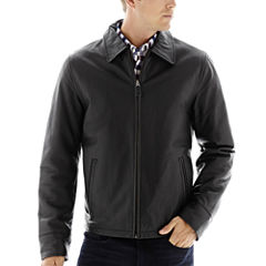 Excelled® Nappa Leather Open-Bottom Jacket