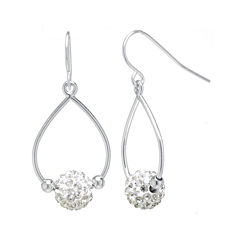 Crystal Ball Sterling Silver Earrings