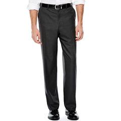 IZOD® Gray Sharkskin Flat-Front Suit Pants - Classic Fit