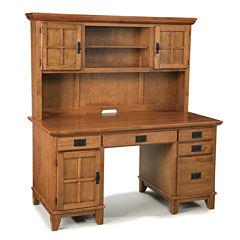 Constance Pedestal Desk with Hutch