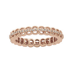 Personally Stackable 1/5 CT. T.W. Diamond 18K Rose Gold Open-Link Ring