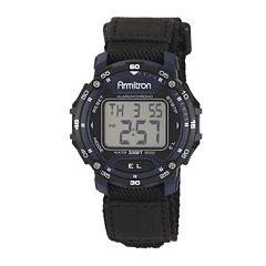 Armitron® Pro-Sport Mens Blue Nylon Fast Strap Chronograph Sport Watch 40/8291BLUJ