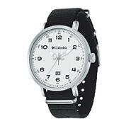 Columbia® Mens Black FieldMaster Strap Watch