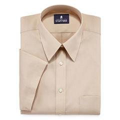 Stafford® Travel Short-Sleeve Easy-Care Broadcloth Dress Shirt
