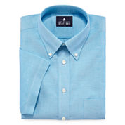 Stafford® Travel Short-Sleeve Wrinkle-Free Oxford Dress Shirt - Big &Tall