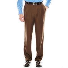 Louis Rapheal® Pleated Mini-Herringbone Dress Pants - Classic Fit