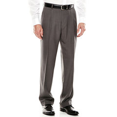 Louis Rapheal® Pleated Mini-Herringbone Dress Pants - Classic Fit
