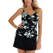Trimshaper ® Floral Tankini or Swim Skirt Bottoms