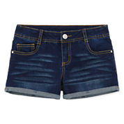 Total Girl Denim Shortie Shorts - Big Kid Girls