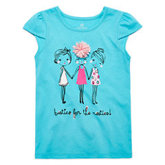Okie Dokie Girls Graphic Petal T-Shirt-Preschool