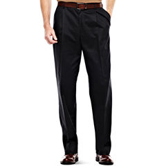 IZOD® Wrinkle–Resistant Pleated Twill Pants–Big & Tall