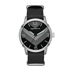 Arizona Mens Black Strap Watch-Fmdarz525