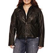 Maralyn And Me Motorcycle Jacket-Juniors Plus