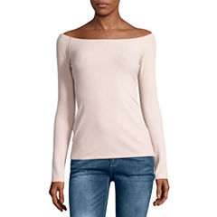 i jeans by Buffalo Long Sleeve Off Shoulder Top