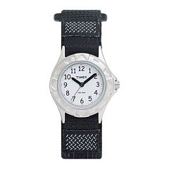Timex® My First Timex Outdoors Kids Black Nylon Fast Strap Watch T790519J
