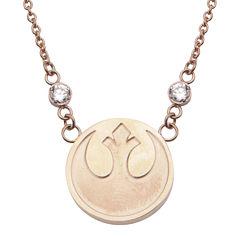 Star Wars® Stainless Steel Rebel Alliance Symbol Pendant Necklace
