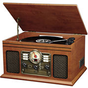 6-in-1 Classic Music Center with Bluetooth