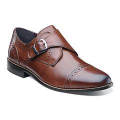 Nunn Bush® Newton Mens Monk-Strap Cap-Toe Leather Dress Shoes