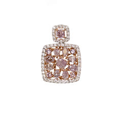 5/8 CT. T.W. Pink Diamond Multi-Shape 18K Pendant