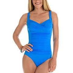 Trimshaper Solid One Piece Swimsuit