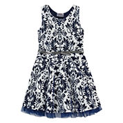 Knit Works Elbow Sleeve A-Line Dress - Preschool