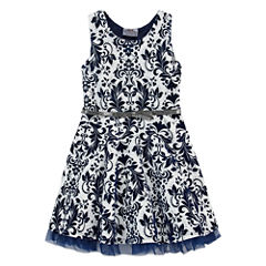 Knit Works Elbow Sleeve A-Line Dress - Preschool Girls