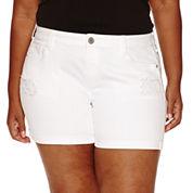 Arizona Denim Shorts-Juniors Plus