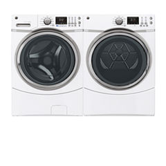 GE® Front Load 2-pc. Electric Washer & Dryer Set- White