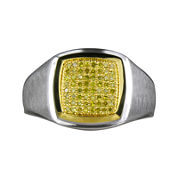 LIMITED QUANTITIES Mens 1/4 CT. T.W. Color-Enhanced Yellow Diamond Ring