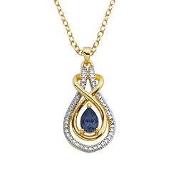 Sparkle Allure Blue Sapphire Pendant Necklace