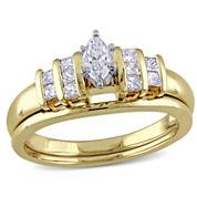 Womens 1/2 CT. T.W. White Diamond 14K Gold Bridal Set