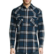Ely Cattleman® Long-Sleeve Brawny Flannel Snap-Front Western Shirt