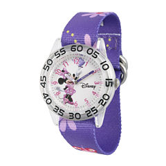 Disney® Minnie Mouse Girls Purple Strap Watch