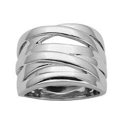 Sterling Silver Crisscross Ring