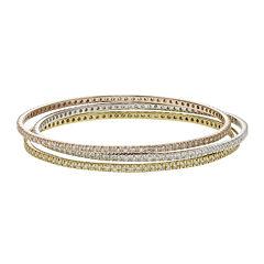 Diamond Glamour™ Diamond- and Crystal-Accent 3-pc. Stackable Bangle Bracelet Set