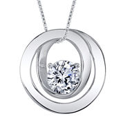 Inspired Moments™ Cubic Zirconia Sterling Silver Friends Pendant Necklace